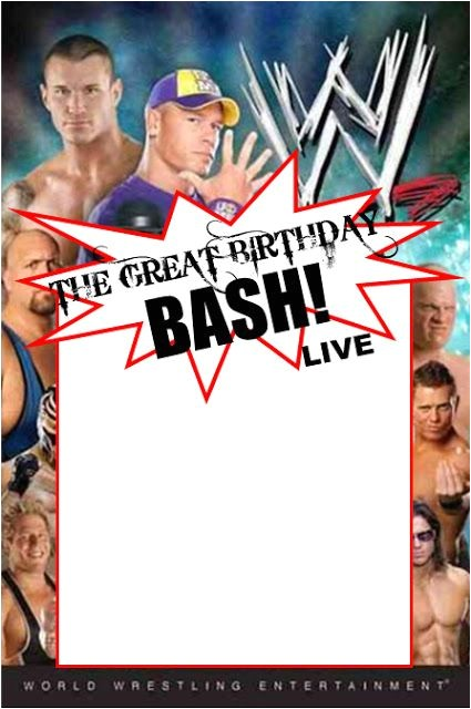 Wrestling Party Invitations Wwe Party Swimming Pool Parties and Party Invitation