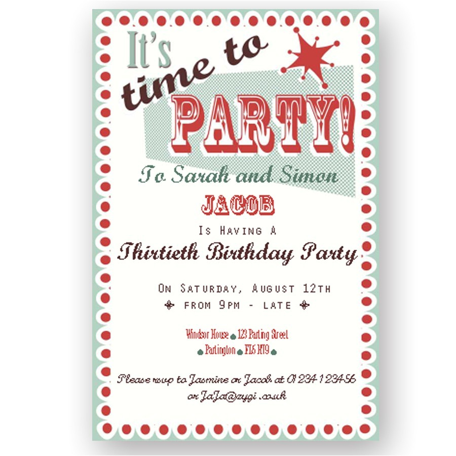 how to write an invitation to a party