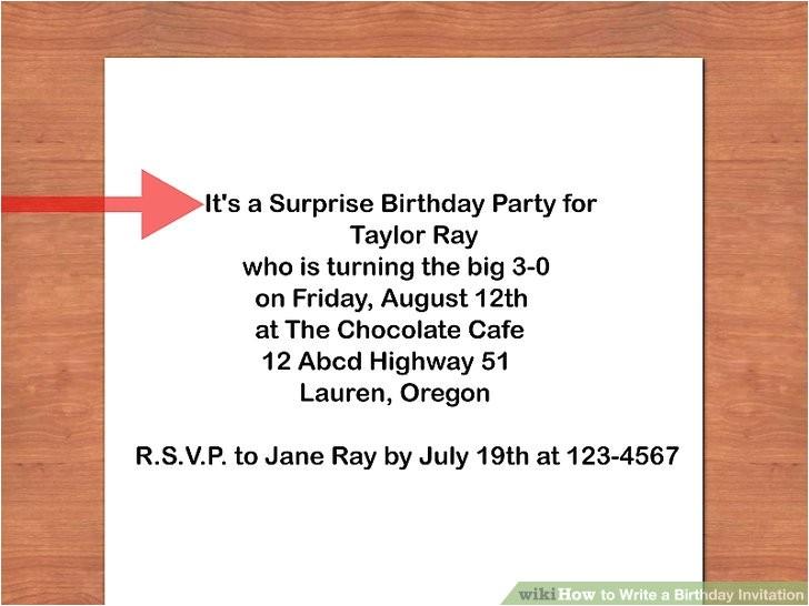 write a birthday invitation