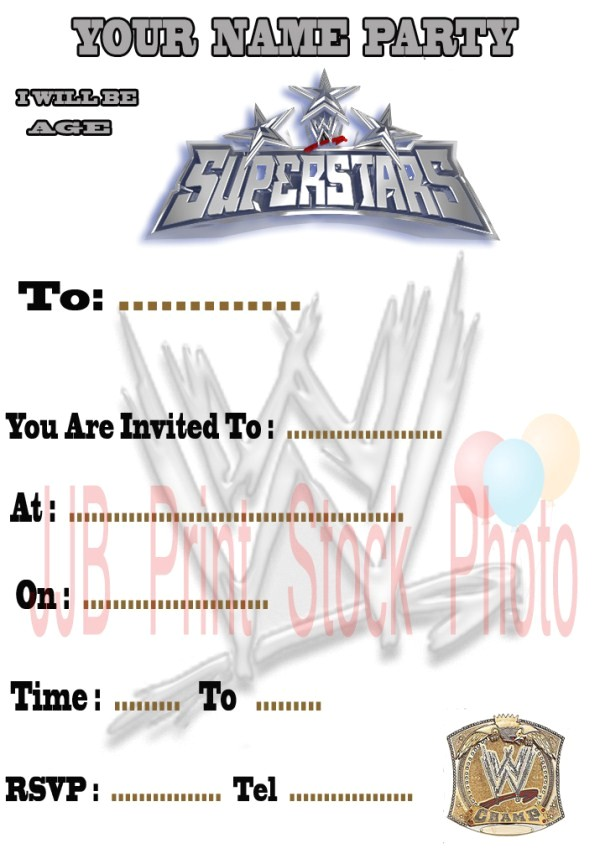 Wwe Birthday Party Invitations Free 5 Best Images Of Free Printable Wwe Birthday Invitations