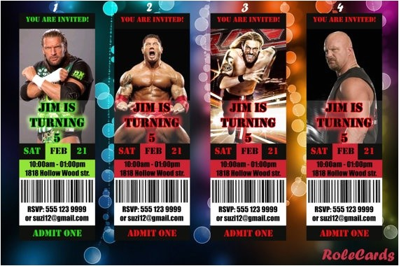amazing wwe birthday invitations free download images