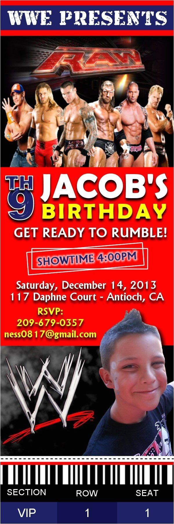 wwe birthday party invitations