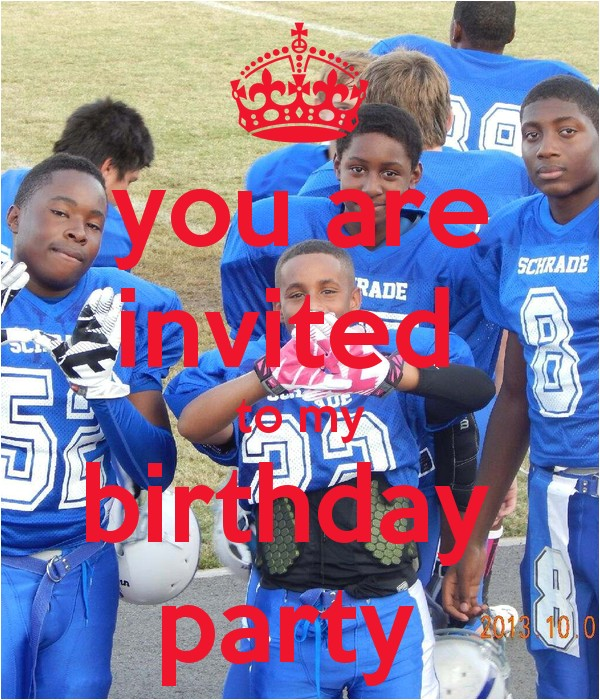 you are invited to my birthday party