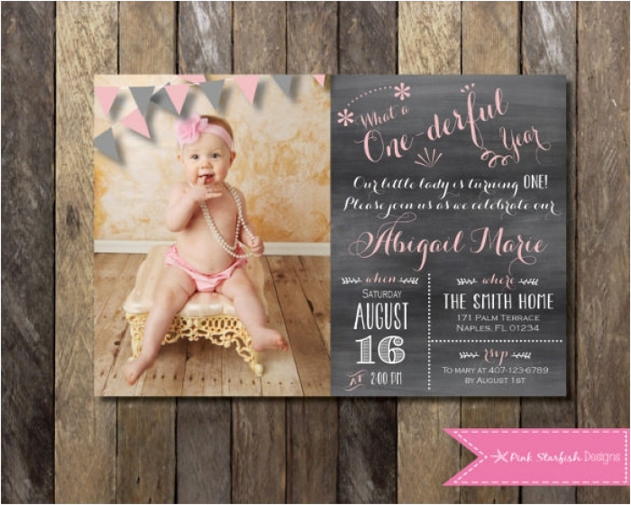 beautiful first birthday invitation templates free download collection