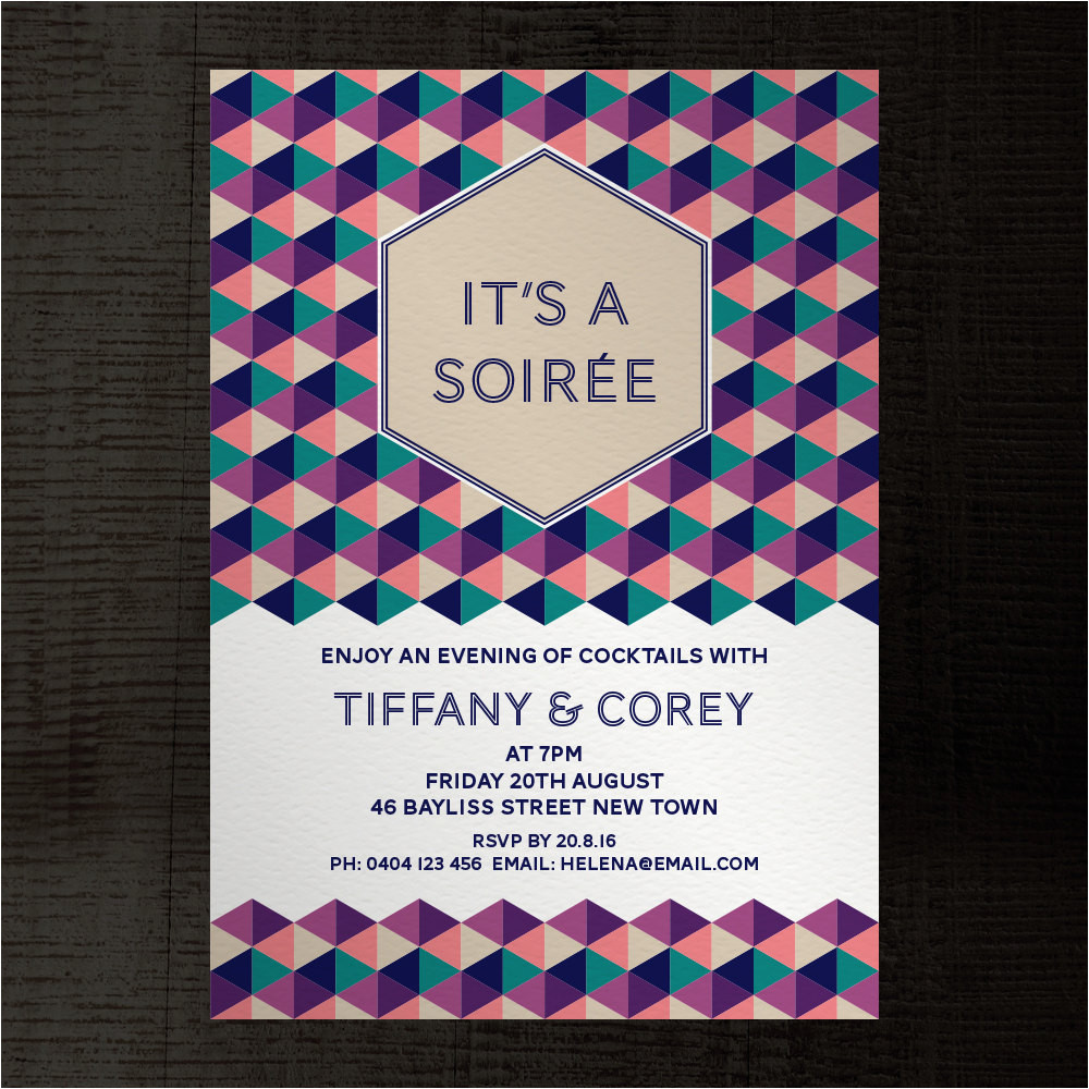 soiree indesign template party