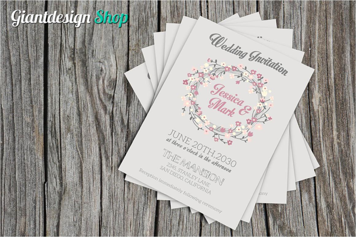 wedding invitation template a5