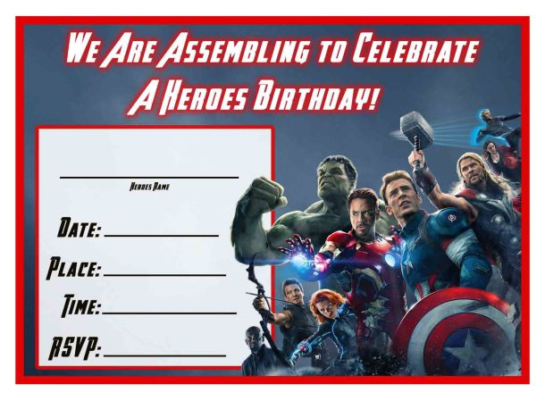 free avengers age of ultron printable birthday invitation templates avengers ageofultron