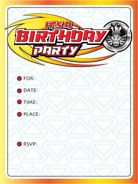 beyblade birthday party invitations