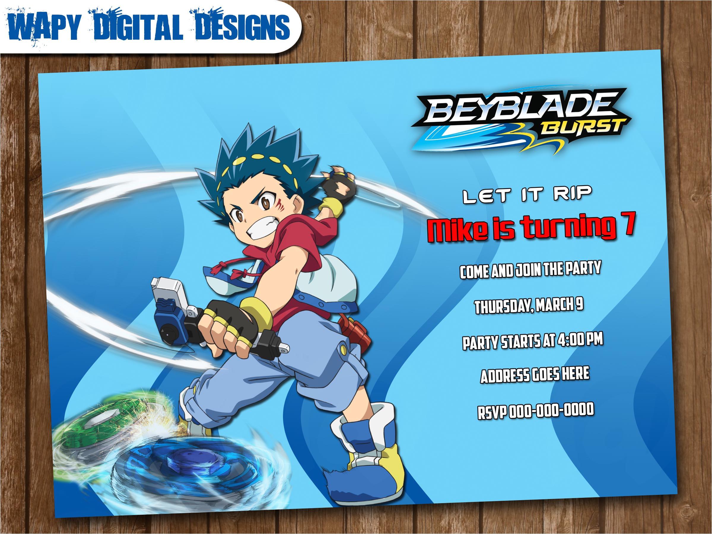 beyblade model 4 digital party