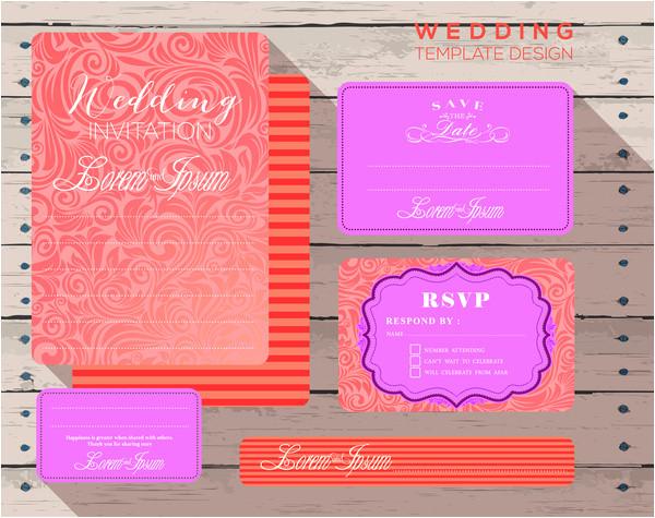 corel draw invitation card template