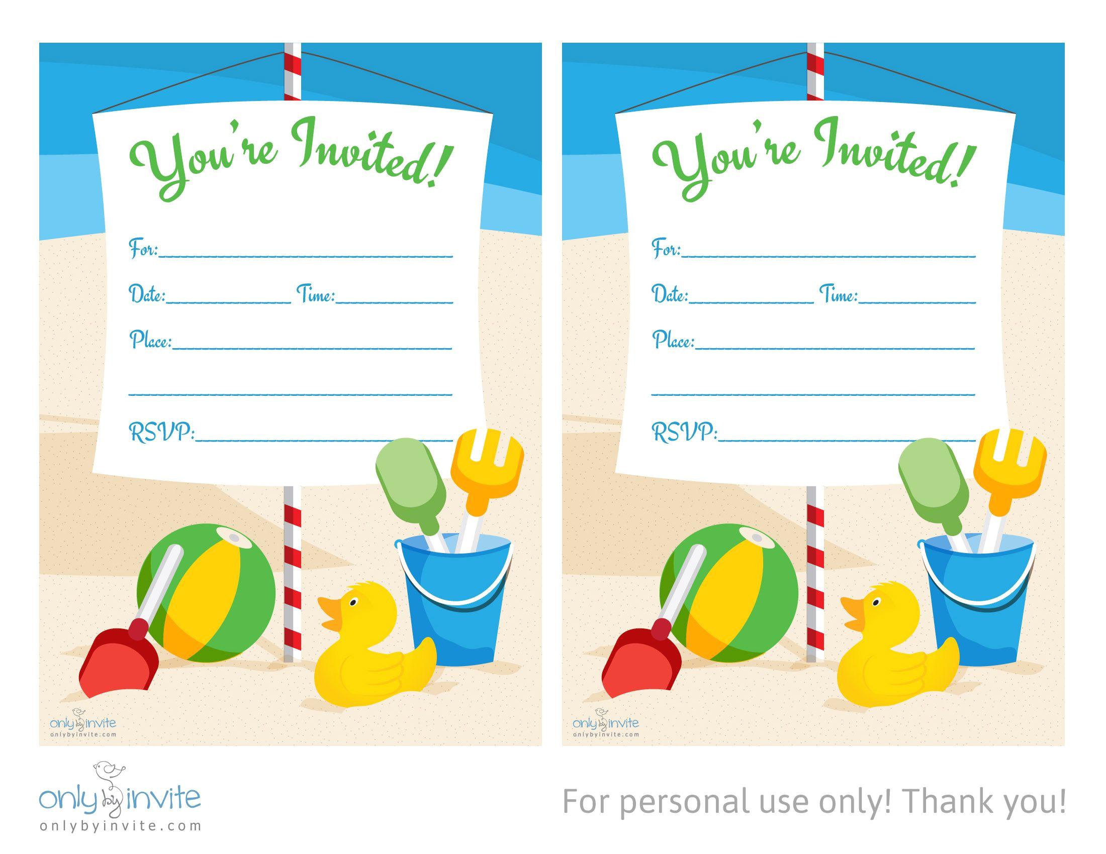 blank invitation templates free