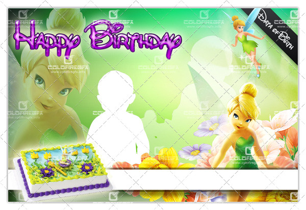 tinkerbell birthday template psd
