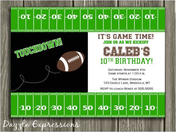 football birthday invitation 2 thank you card included
