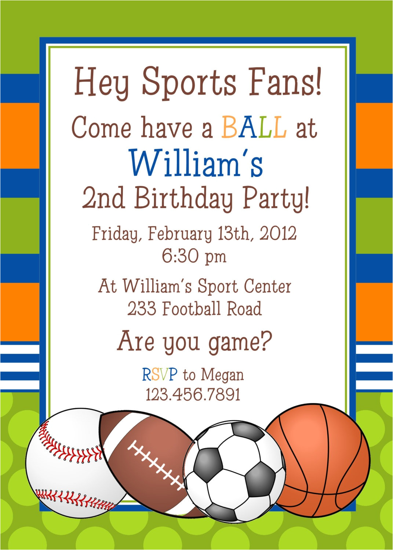sports invitations templates free