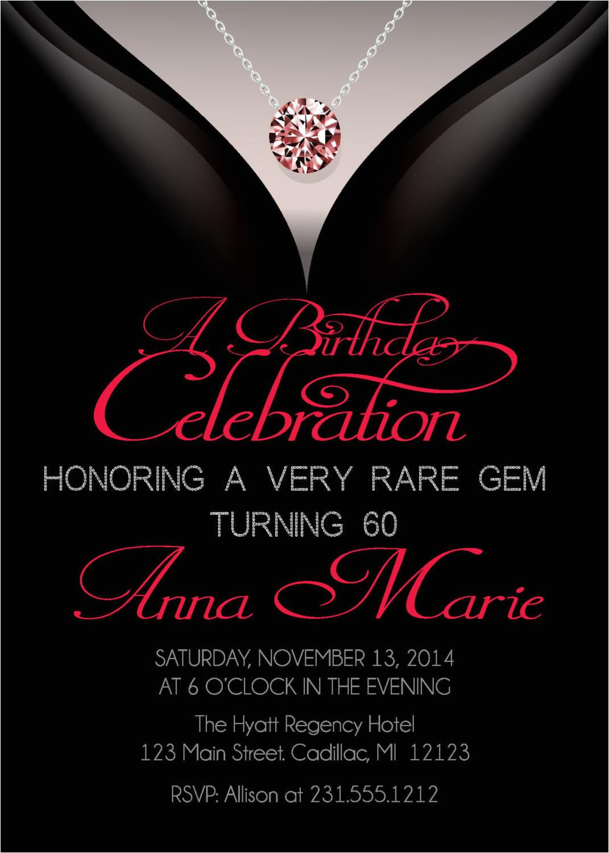 60th birthday invitations adult birthday