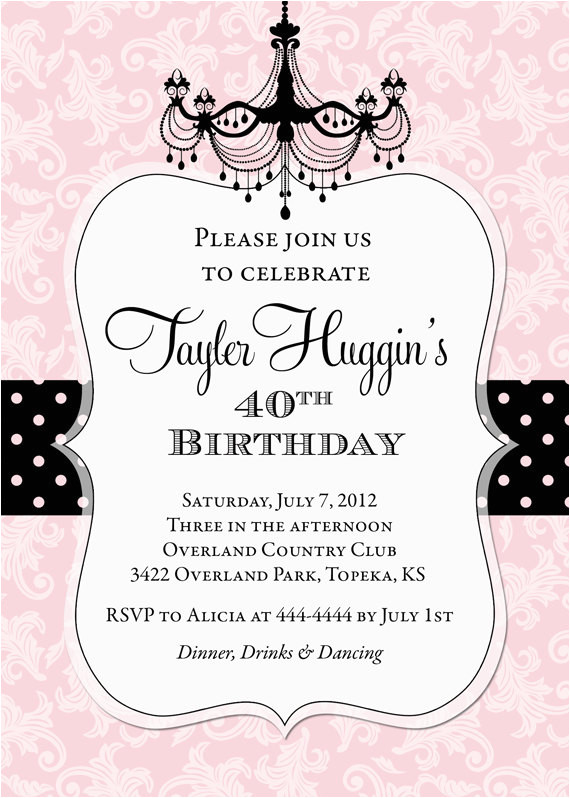 personalized birthday invitations for adults