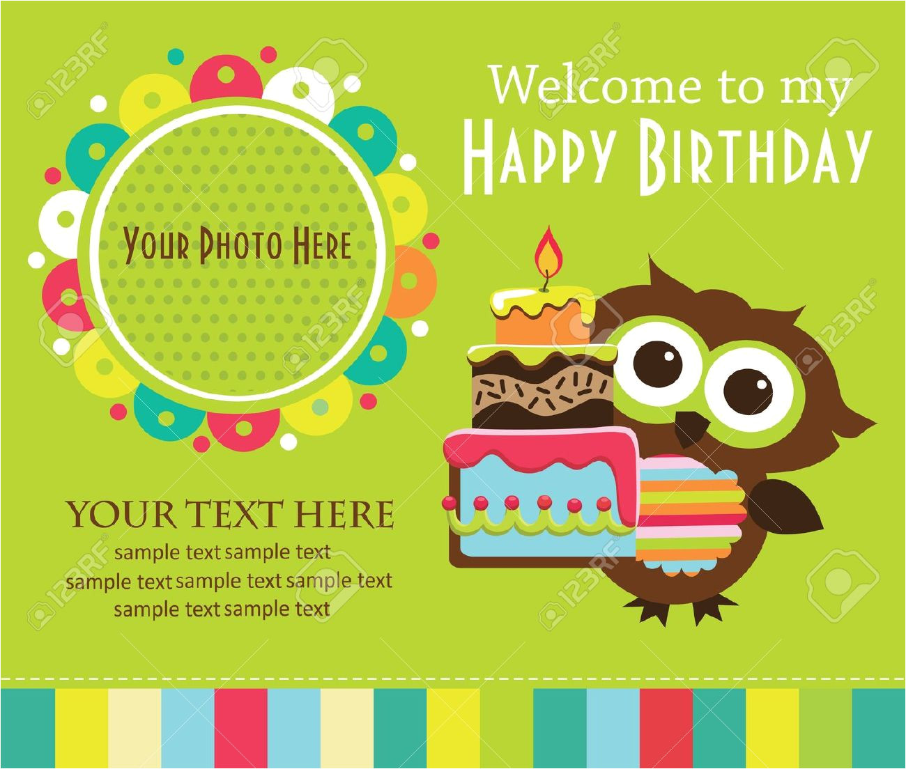 birthday invitation card template for kids