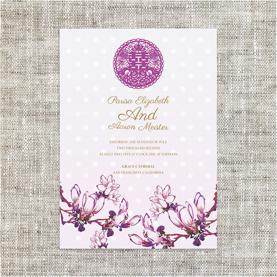 diy printable chinese wedding invitation