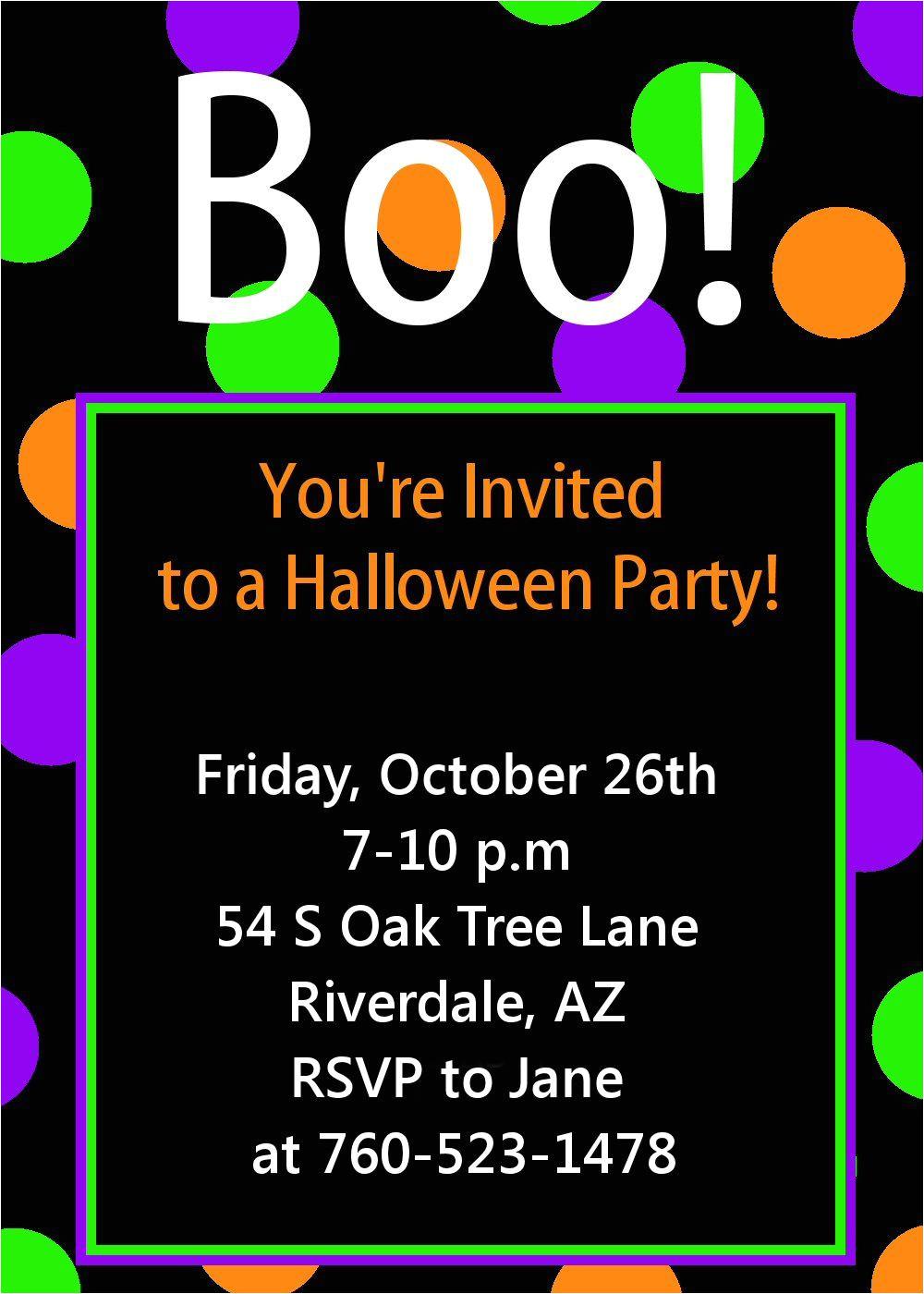 halloween party invitation printable