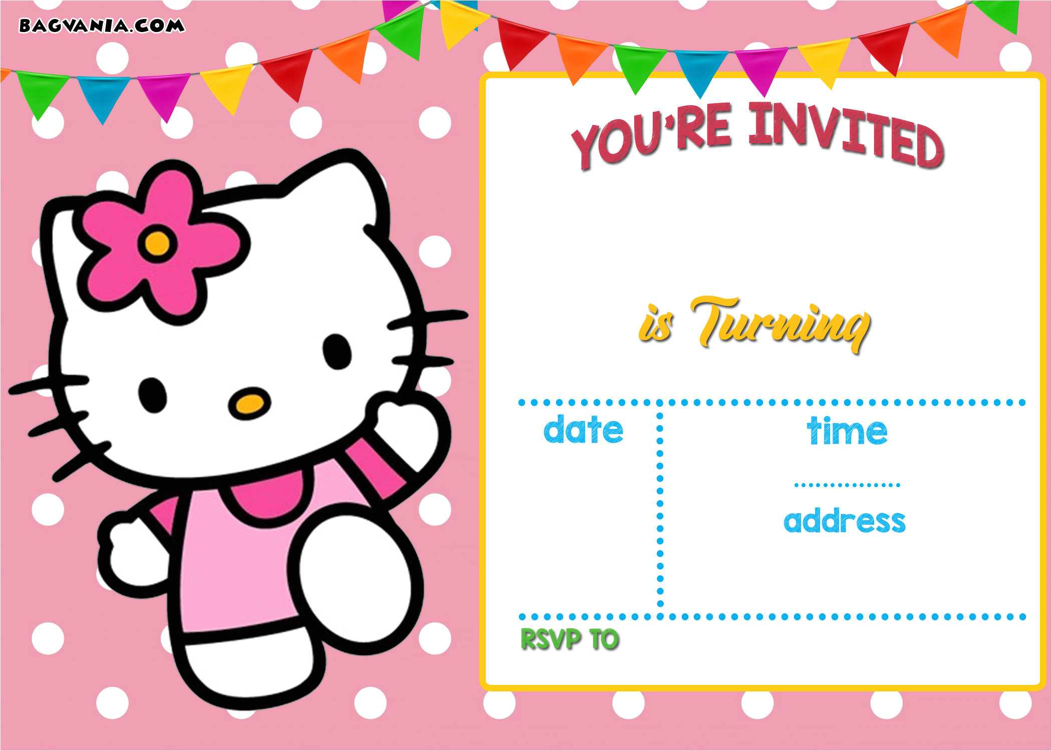 free hello kitty invitation templates