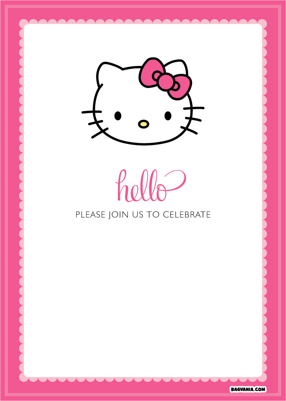 free printable hello kitty birthday invitations