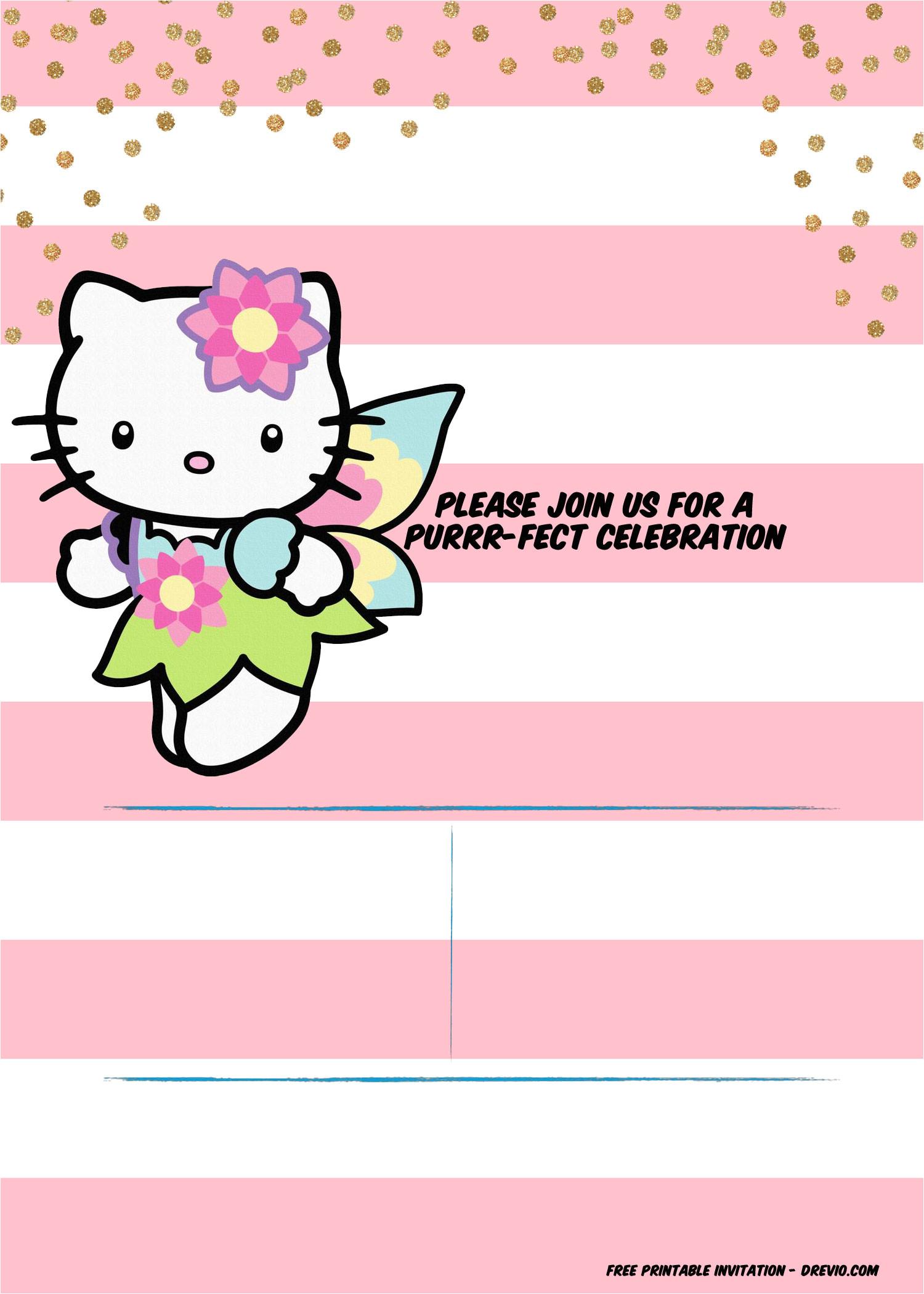 hello kitty invitation template portrait mode
