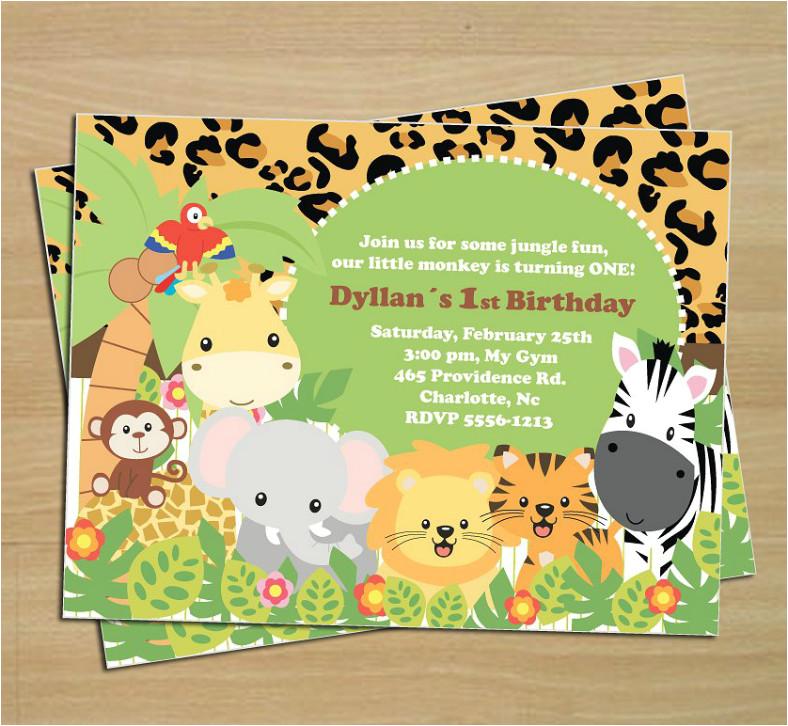 animal invitation templates