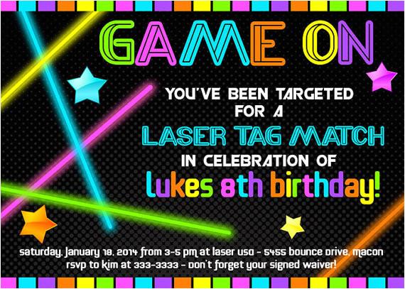 laser tag birthday invitations free