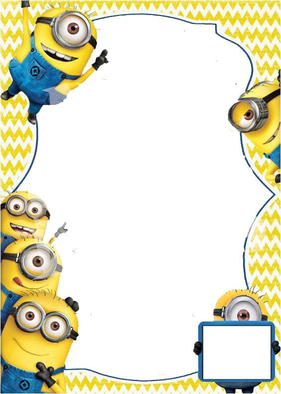minion invitations template design for party ideas