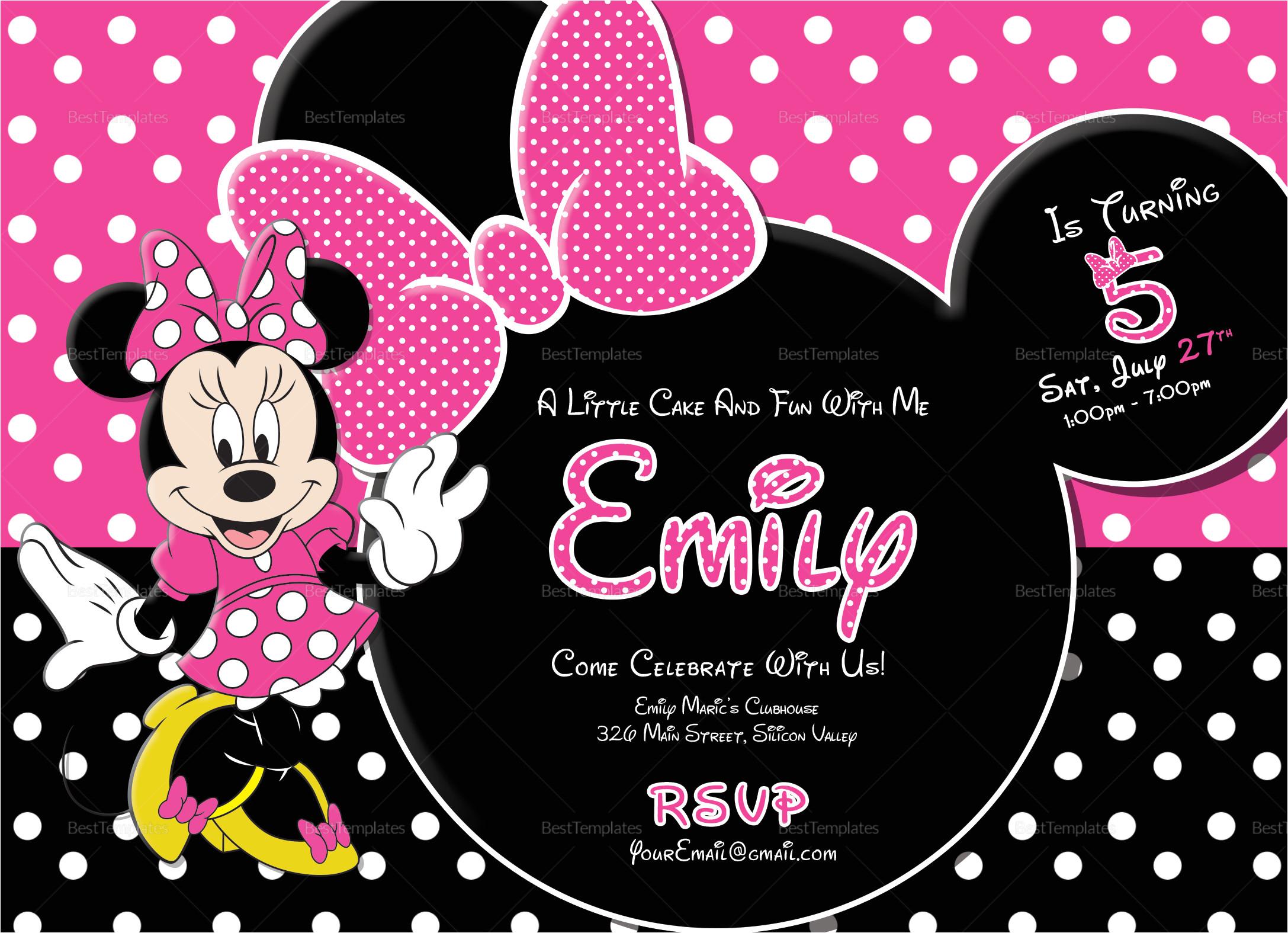 special minnie mouse birthday invitation