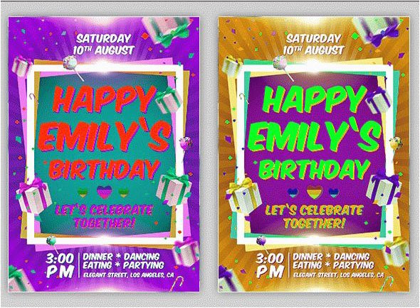 45free psd birthday invite templates in psd