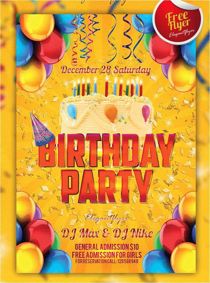 free birthday invitation templates psd