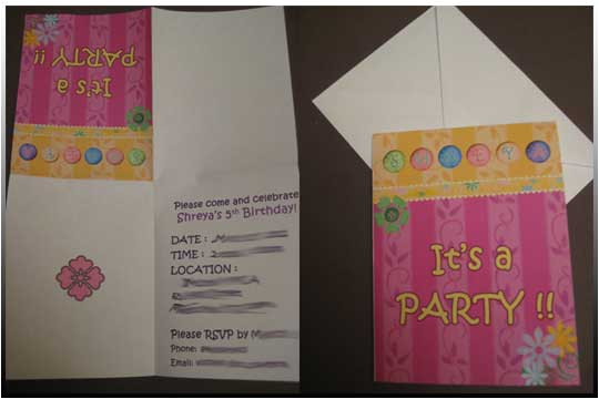 birthday invitation template quarter