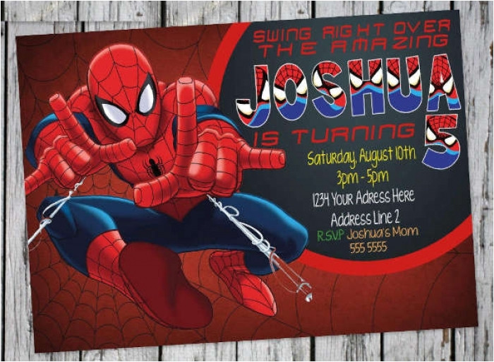 awesome spiderman birthday invitation templates free pictures