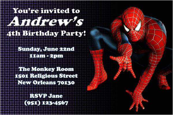 convite de aniversario homem aranha