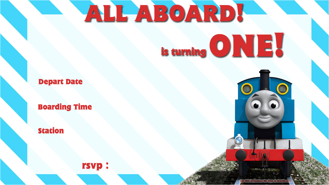 free printable train birthday invitations wording
