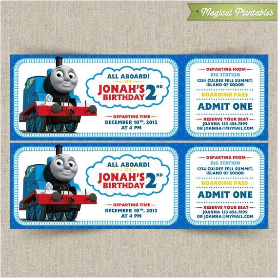 thomas the train invitations