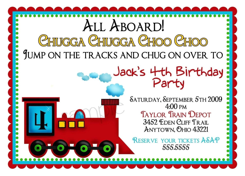 train invitations train locomotive choo