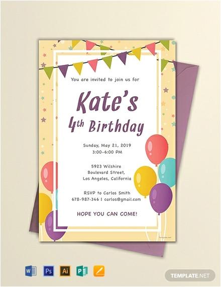 email birthday invitation