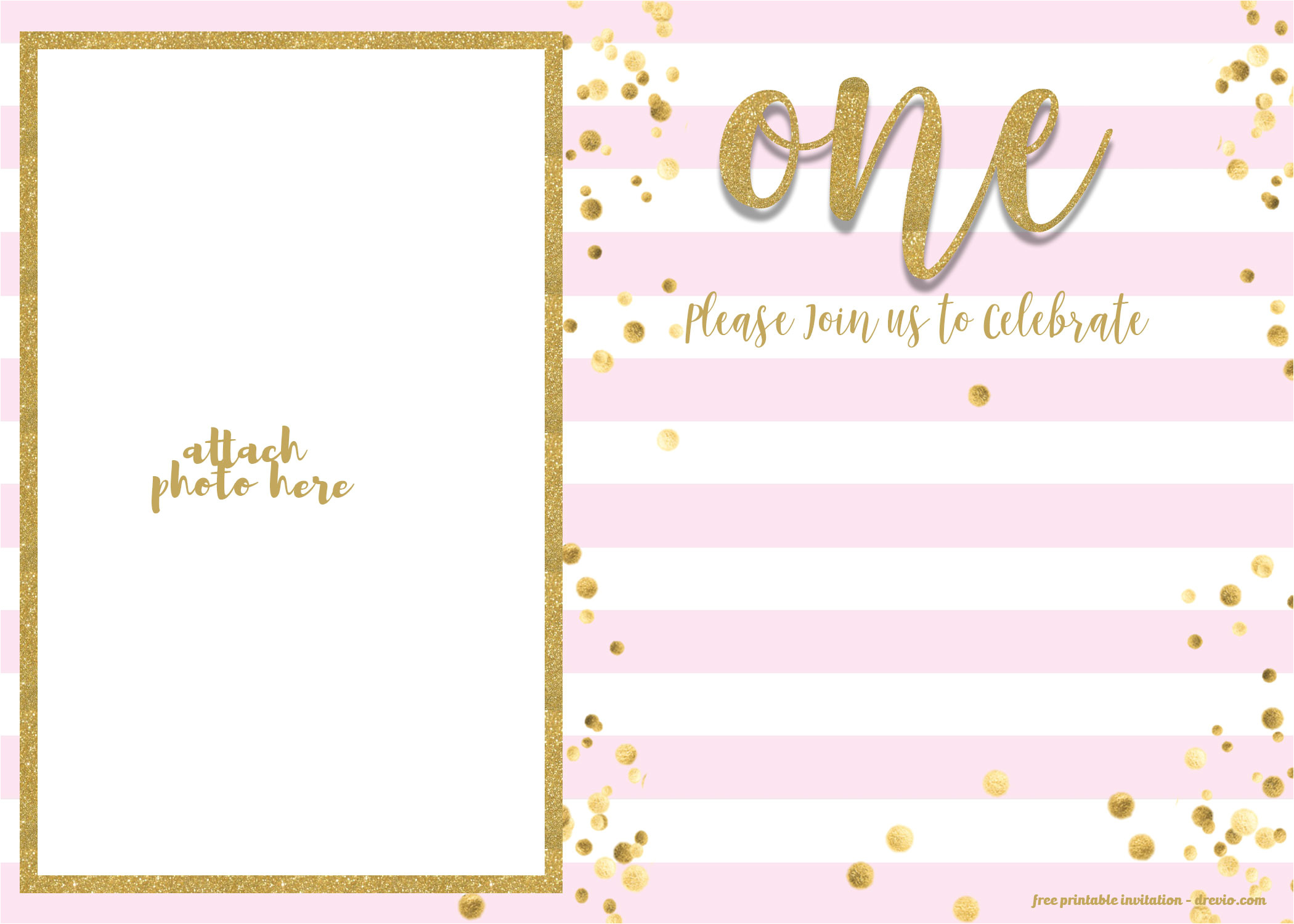 free 1st birthday invitations template for girl