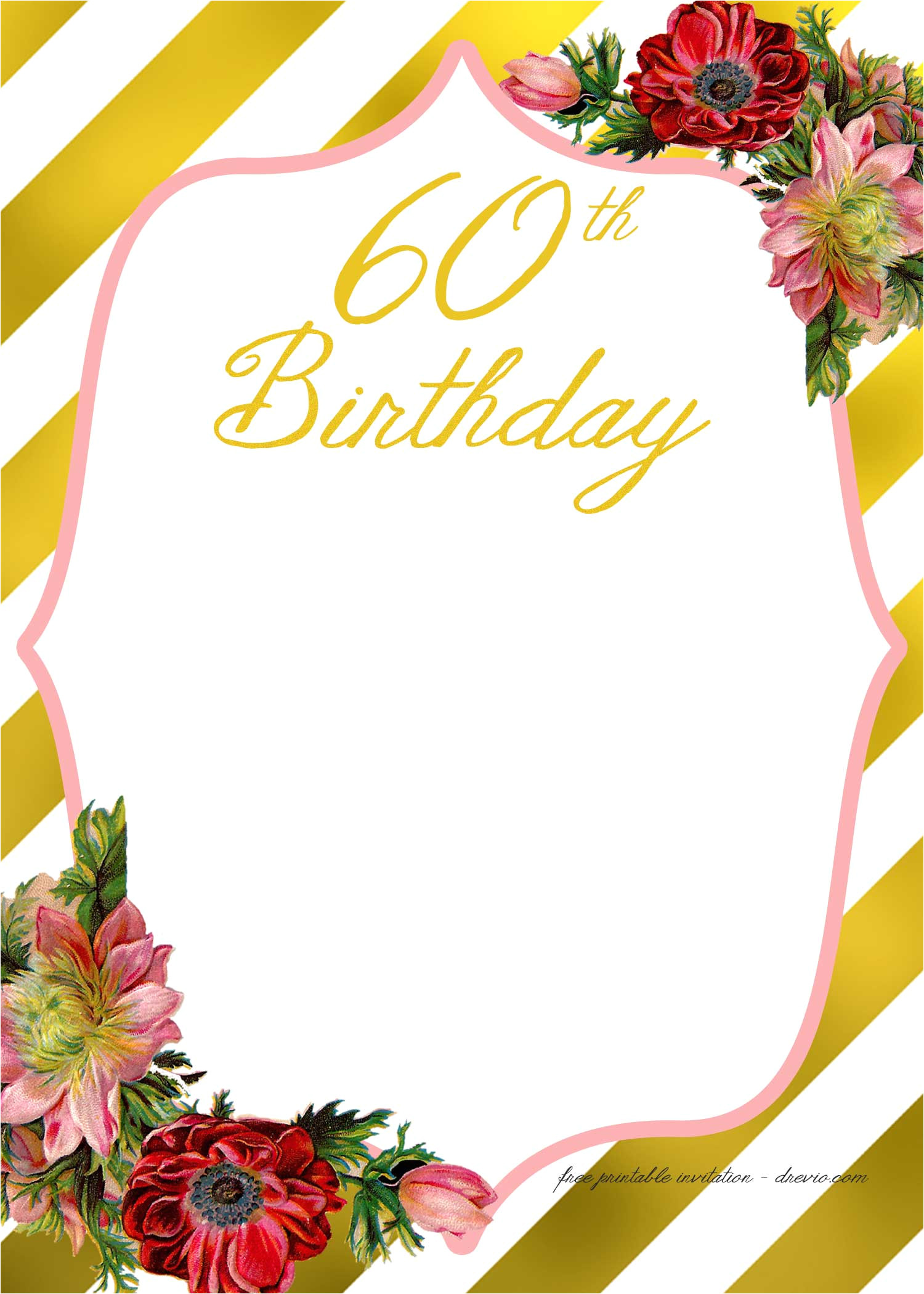 free printable adult birthday invitation template