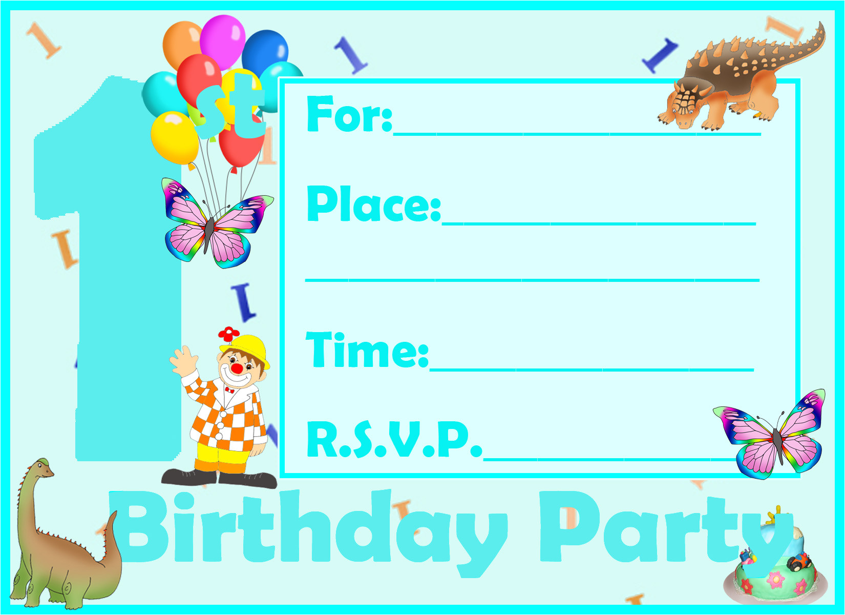free printable first birthday invitations for boy