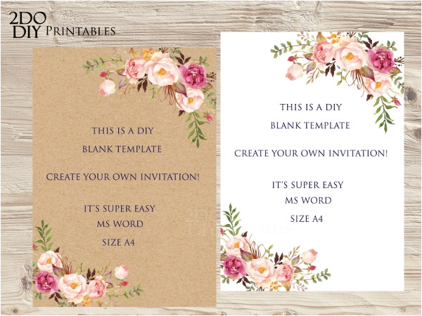 blank invitation templates ms word