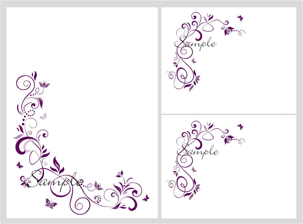 floral blank wedding invitation