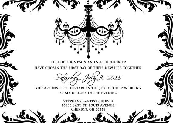 wedding invitations template set psd