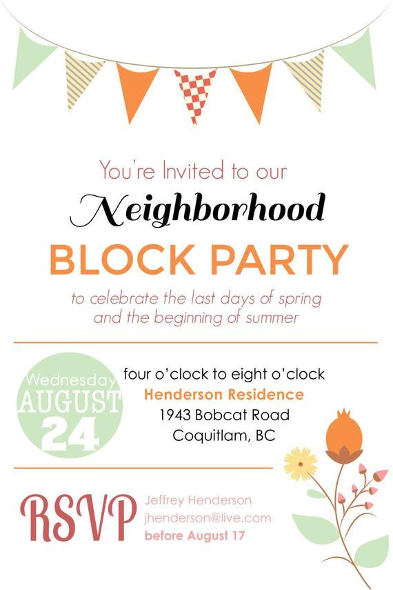 summer block party backyard bbq