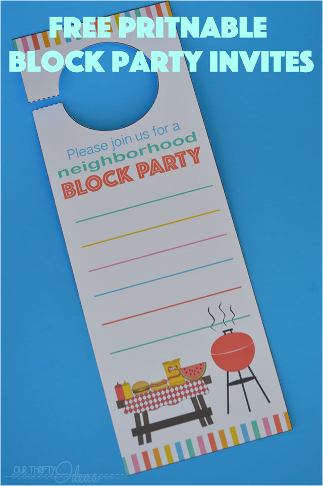 neighborhood block party invitation free printable