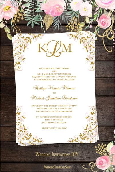 copy of kaitlyn wedding invitation blush pink