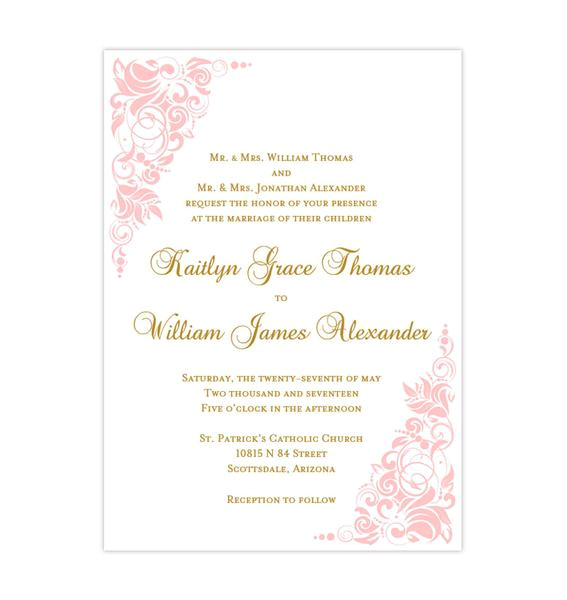 wedding invitations templates printable for all budgets page 2