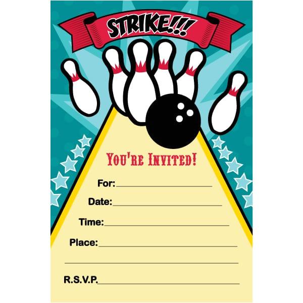 bowling invitation template free